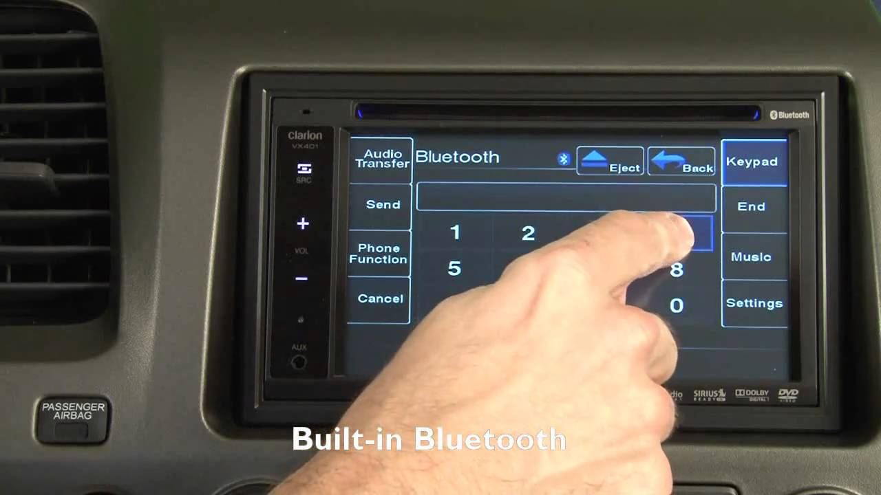 Clarion Vx400 And Vz400 Dvd Receiver Display And Controls