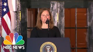 Amy Coney Barrett Gives Speech After Supreme Court Confirmation   NBC News