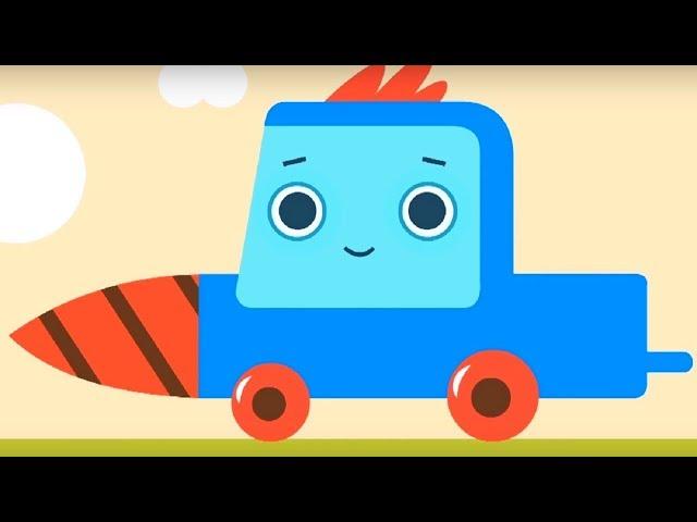 Развивающий мультфильм - Грузовичок Пик - Дикобраз-обжора! + Хамелеон  - про машинки