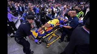 Patrick McCaw Scary Injury / GSW vs Kings