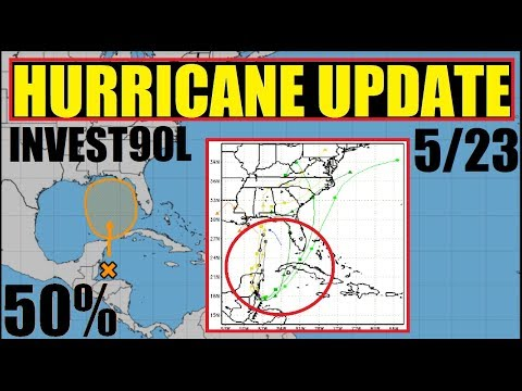 HURRICANE UPDATE INVEST 90L 50% over 5 days and US weather