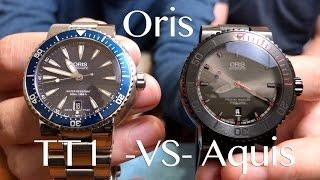 Oris TT1 -vs- Oris Aquis - Comparison/Review of the Oris El Hierro Edition - Clock Stock & Barrel