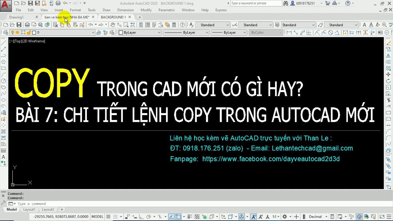 Bài 7: Chi tiết các tình huống sao chép của lệnh COPY trong AutoCAD bạn phải biết để vẽ nhanh
