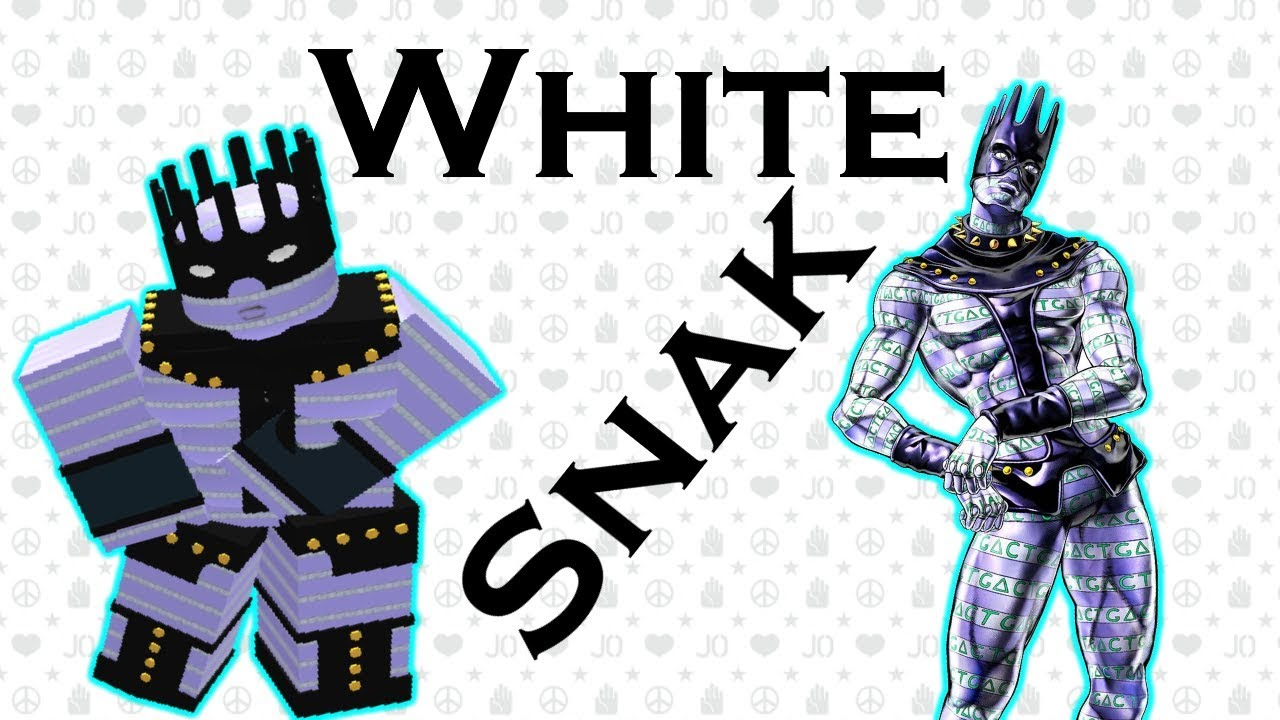 White Snake Showcase Roblox Project Jojo Youtube