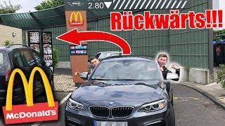 RÜCKWÄRTS in DRIVE-IN fahren PRANK !! (McDonalds Prank EXTRΕM)