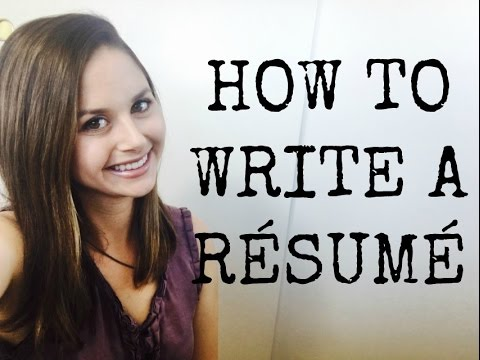HOW TO WRITE A RÉSUMÉ {free Template}