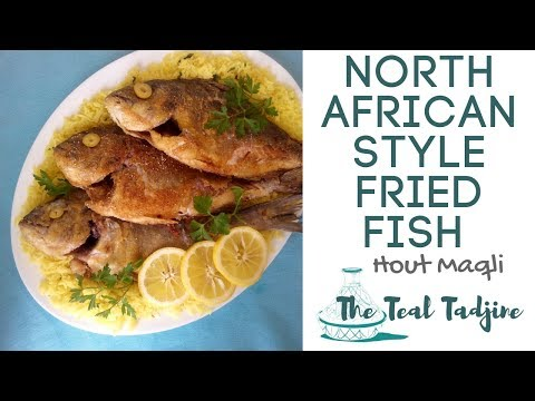 How to Prepare North African Style Fried Fish | Hout Maqli Maghrébine, سمك مقلي مغربي