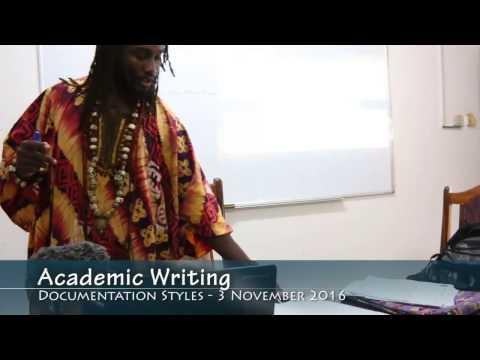 Academic Writing 4: Documentation Styles