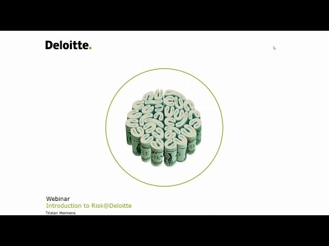 Deloitte Stay in Touch Community Webinar Introduction to Ris