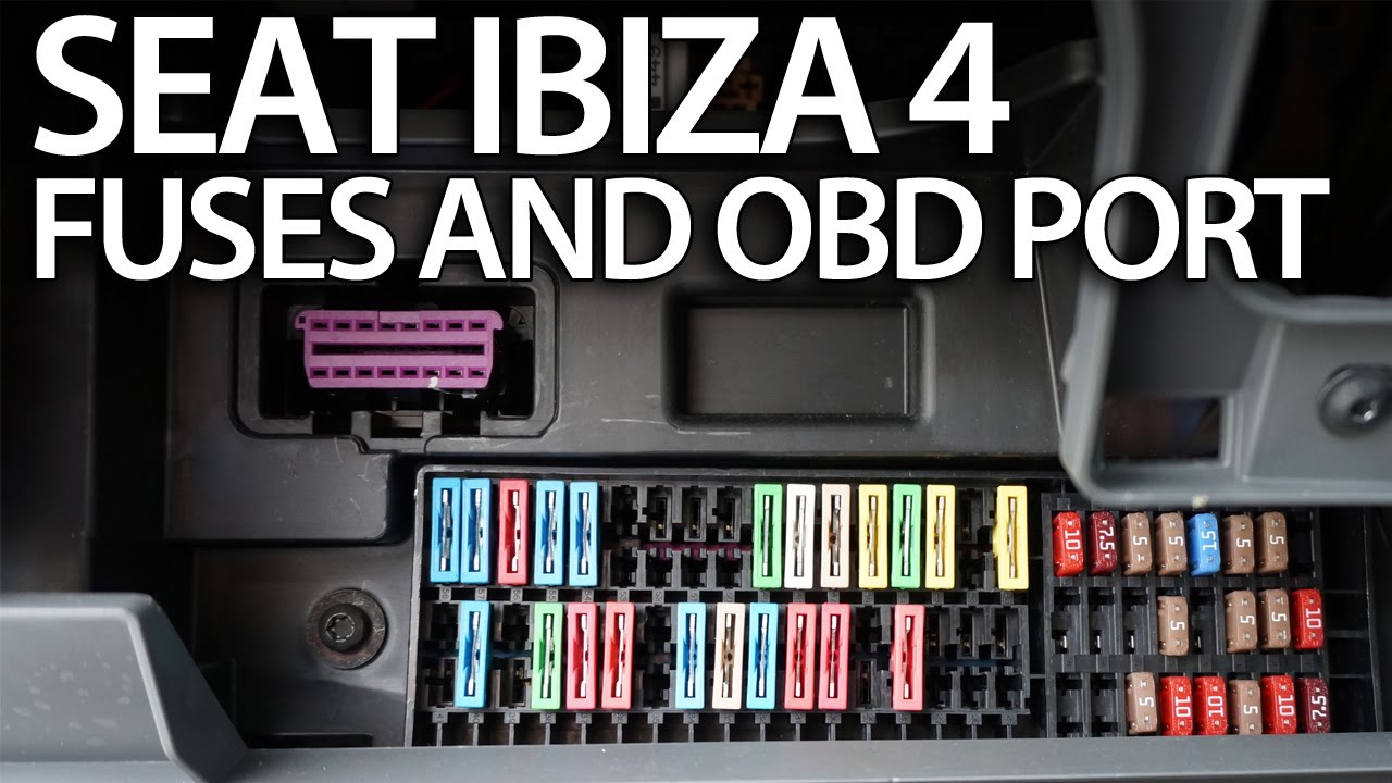 Schema Collegamento Obd : Where are fuses and obd2 port in seat ibiza mk4 on board diagnostic