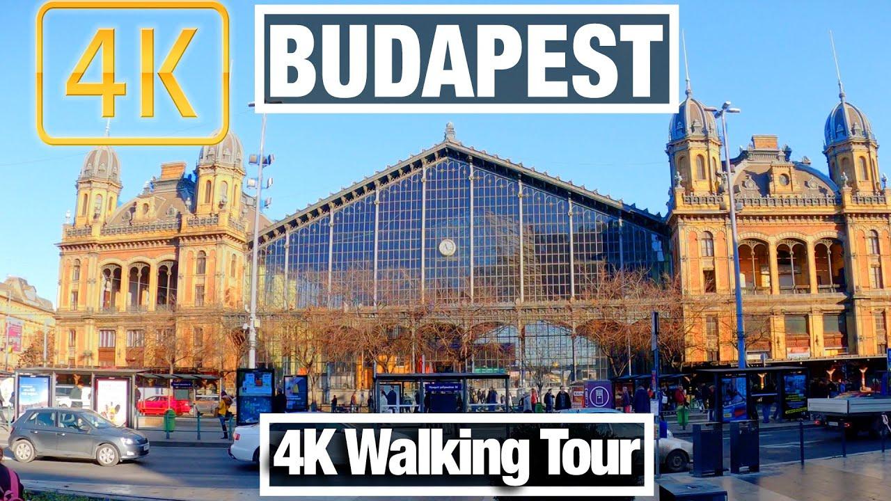 4K City Walks: Budapest, Hungary Nyugati Pályaudvar Train Station- Virtual Walk Treadmill City Guide