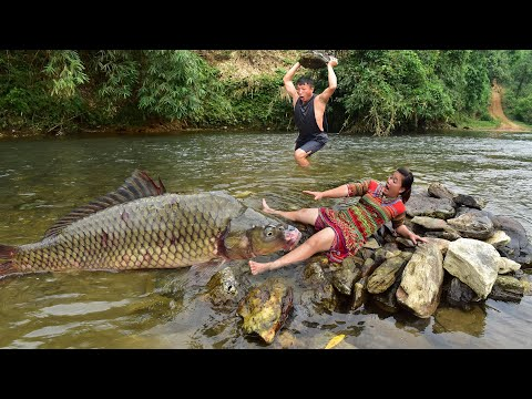 Video Catch Fish Exciting    Skills Catch Fish Especially   Catch big fish Amazing by the river