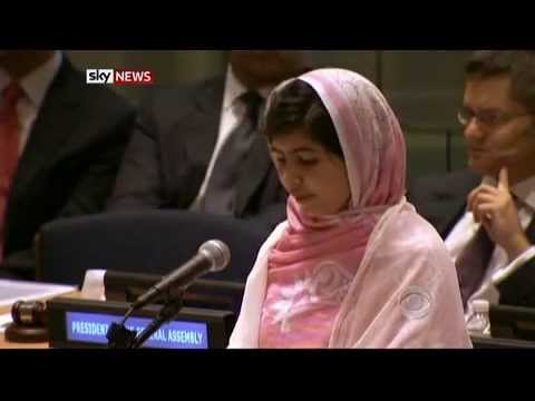 """Malala To The UN: """"One Child One Teacher One Book And  One Pen"""""""