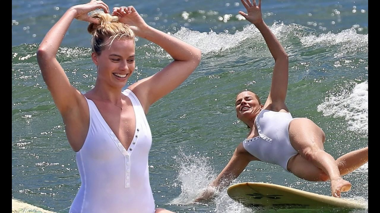 Naked girls on the beach - 7 Famous Beauties Surfing In