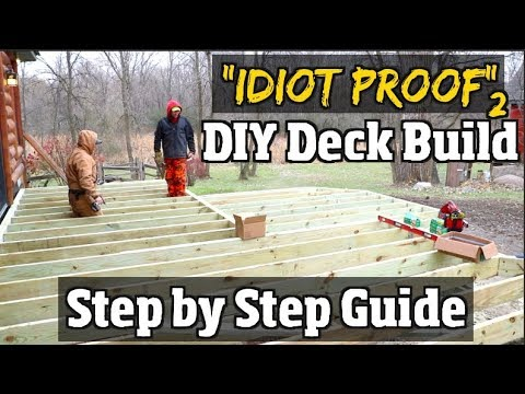 Ground Level Deck Diy How To Build