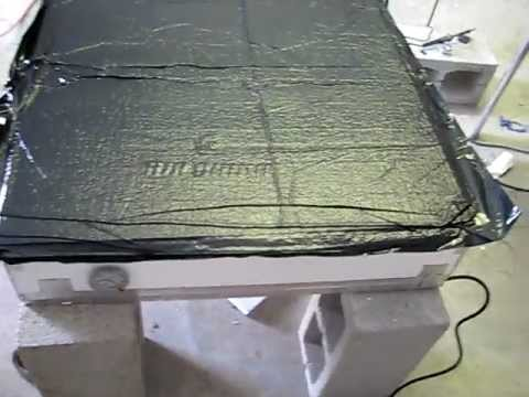 DIY Solar Panel Design and build #5 vacuum Laminating