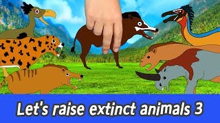 [EN] Let's raise extinct animals 3! Cenozoic animals animation, learn animals namesㅣCoCosToy