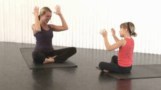 Yoga for Kids(Have some wound up Tasmanian Devils at home? Join Sarah Kline and her niece Charlotte in a 10-minute sequence. It's a fun and positive way to channel and ..., 2009-03-16T05:18:21.000Z)