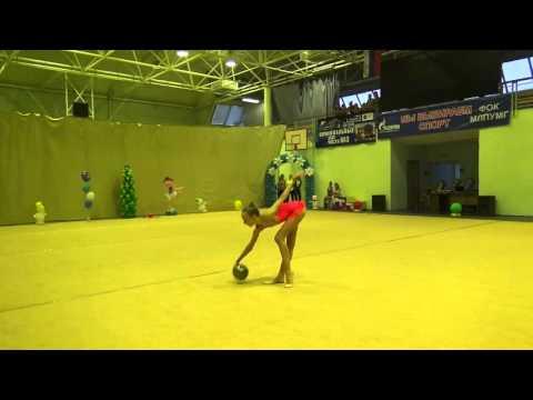 Саитова Альбина, 2003, мяч, Можга, группа А, 13 12 2015