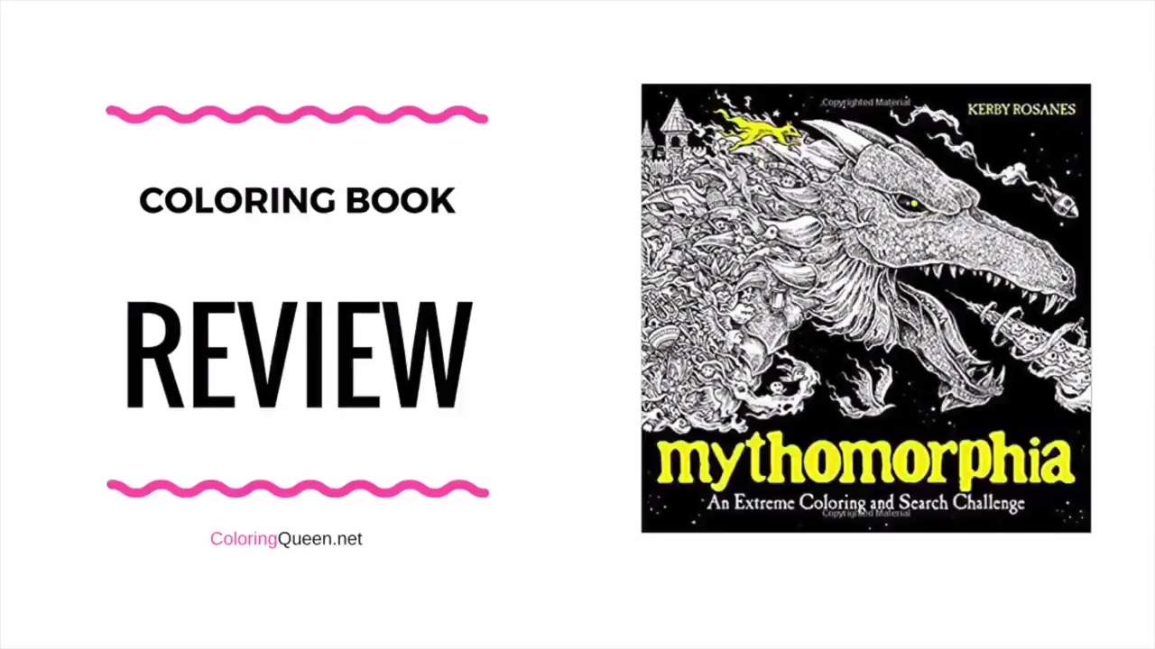 Animorphia an extreme coloring and search challenge by kerby rosanes - Mythomorphia Coloring Book Review Kerby Rosanes