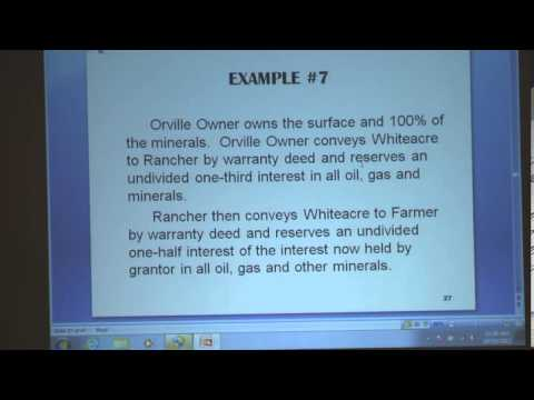 Oil, Gas & Mineral Law Issues Clip 11