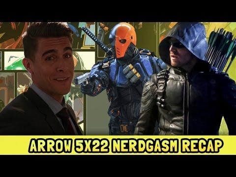 Deathstroke Teamup | Arrow Season 5 Episode 22 Nerdgasm Recap
