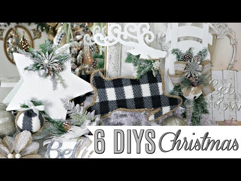 "🎄6 DIY DOLLAR TREE CHRISTMAS DECOR CRAFTS 2019🎄 ""I Love Christmas"" ep19 Olivia's Romantic Home DIY"