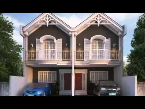 Small house plan designs duplex unit youtube for Small duplex house