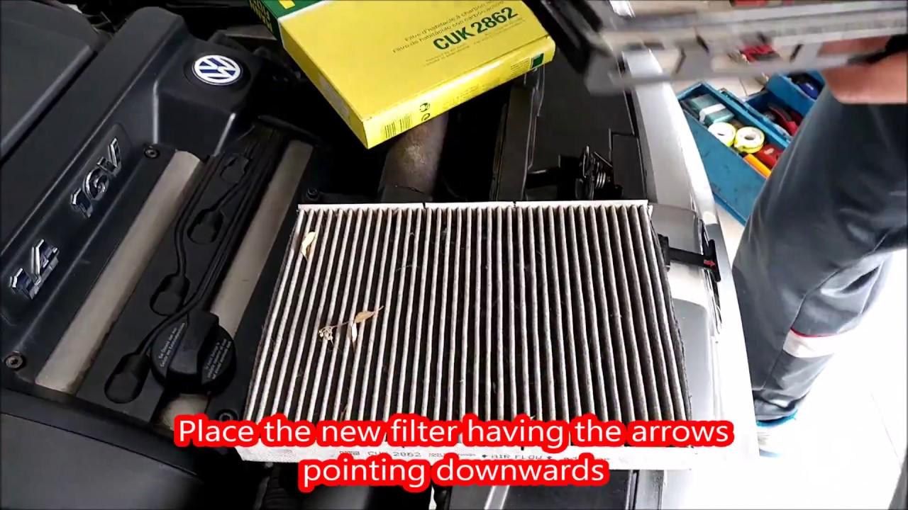change cabin air filter   volkswagen golf youtube