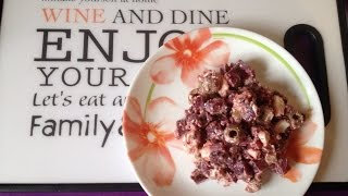 Салат с печеной свеклой, оливками и сыром. Салат для похудения.