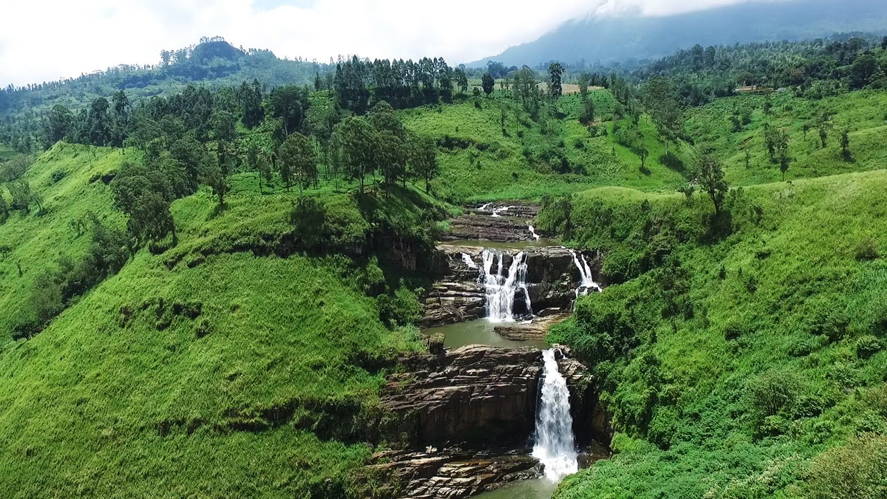 Little Niagara Of Sri Lanka St Clair 39 S Falls Talawakele Goplaces Sri Lanka Youtube