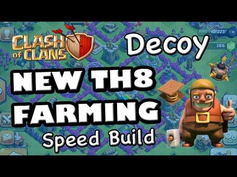 TH8 NEW FARMING Base Speed Build (Decoy) - 4 Mortars