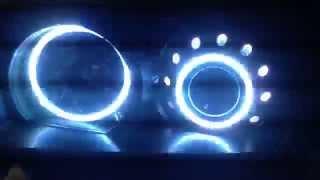 HIDIllusionz Subaru Forester XC RGB Angel Eyes HID Retrofit Headlights