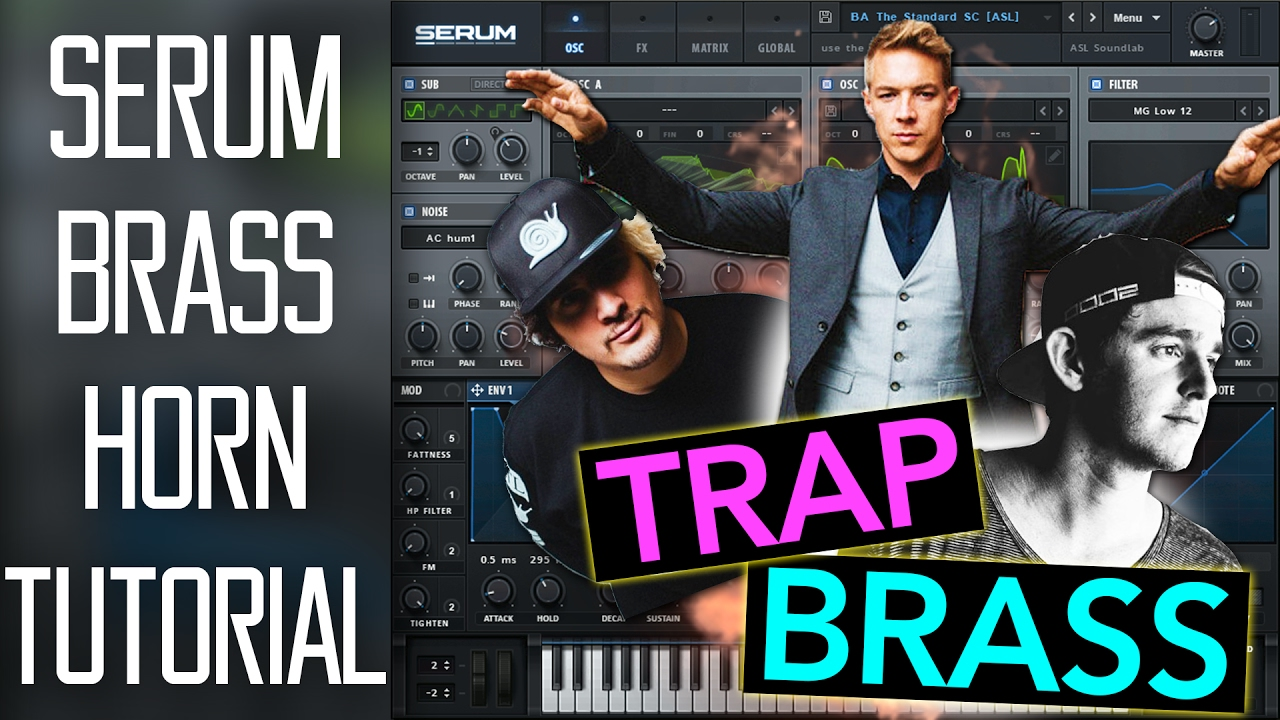 (Perfect) Trap Brass / Horn Lead in Serum Tutorial (FREE PRESET)