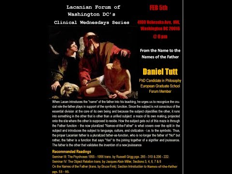 Lacan's the Name-of-the-Father by Daniel Tutt (part 1)