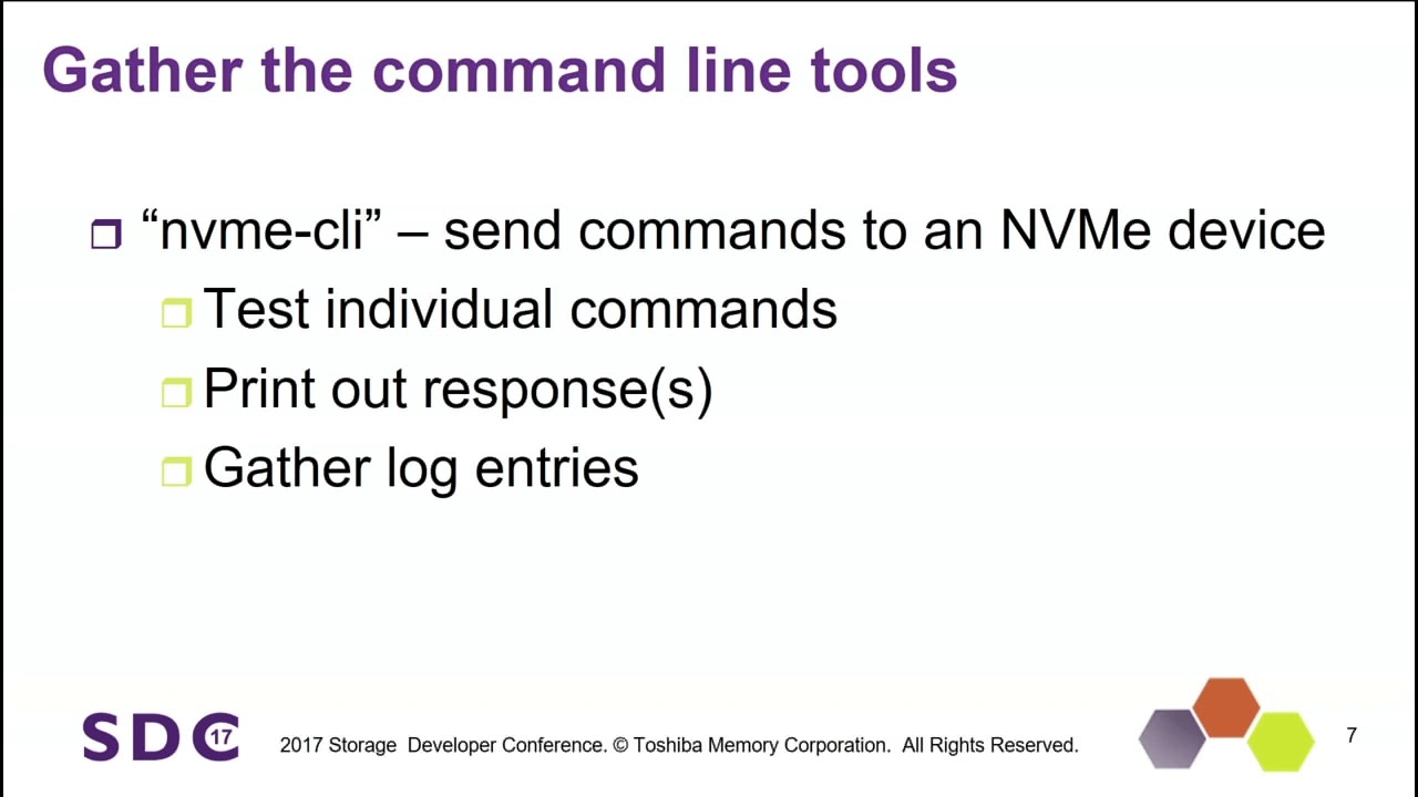 SDC 2017 - Development Techniques and Tips for Maximizing NVMe Performance  - Tom Friend