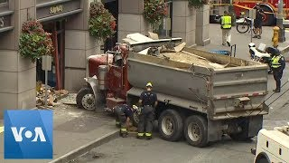 Dump Truck Smashes Into Seattle Sandwich Shop, Injuring 5