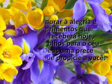 Mensagem de Aniversário Flores