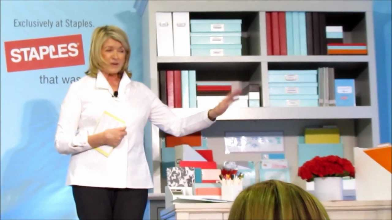 martha stewart home office with avery at staples - youtube