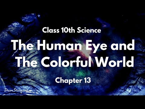 The Human Eye and The Colorful World Part 1 : CBSE Class 10 X Science (Physics)