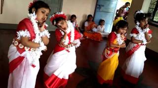 Megher Kole Rod Hesechhe   Rabindra Sangeet : Kids Song : ছোটদের নাচের গান : মেঘের কোলে রোদ হেসেছে
