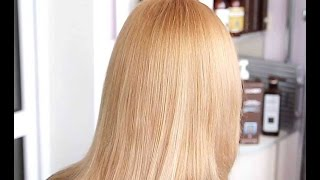 Секреты окрашивания волос блондинки  безаммиачной краской.(Выравнивание цвета волос блондинки : осветление корней, нейтрализация рыжины в средней части волос, зате..., 2016-04-09T19:27:41.000Z)