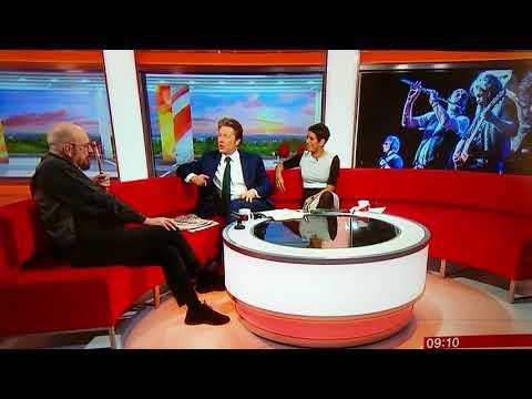 Ian Anderson of Jethro Tull interviewed on BBC Breakfast TV