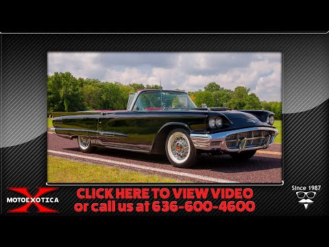 1960 Ford Thunderbird convertible -- For Sale at MotoeXotica