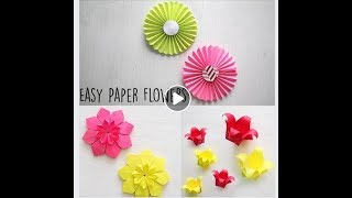 Easy Paper Flowers | Christmas and new year decoration | Origami