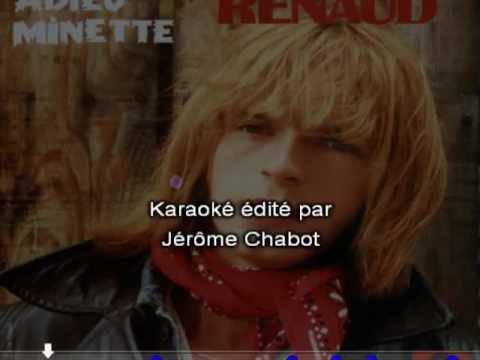 Karaoké - RENAUD - Adieu minette