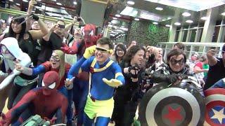 Marvel vs. DC - Flashmob Standoff (Cosplay Showdown at Convention)