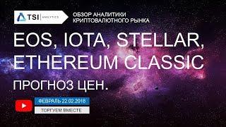 EOS, IOTA, Stellar(XLM), Ethereum Classic — прогноз цен   Прогноз цен на Биткоин, Эфир, Криптовалюты