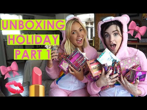 holiday unboxing with Jen & Deanna part 1! | tarte talk