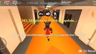 Playing jail break on Roblox no song